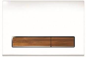 WC tlačítko dřevěný dekor